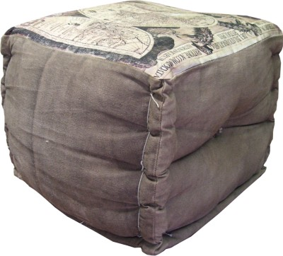 Marwar Solid Wood Pouf