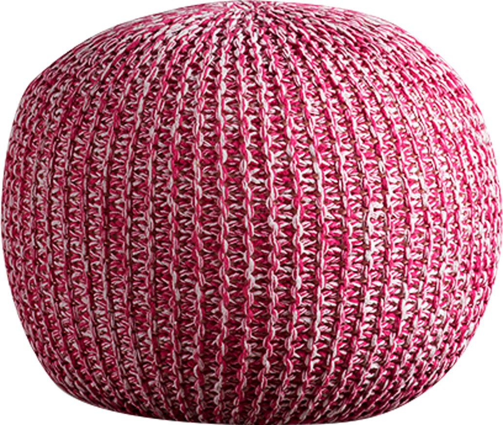 View Purplewood Synthetic Fiber Pouf(Finish Color - Pink) Furniture (Purplewood)