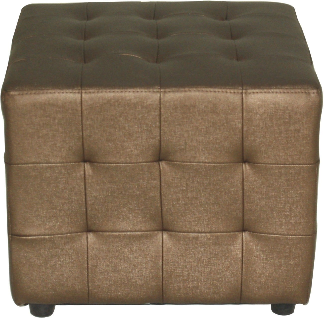 View Furnitech Engineered Wood Standard Ottoman(Finish Color - Copper) Furniture (Furnitech)
