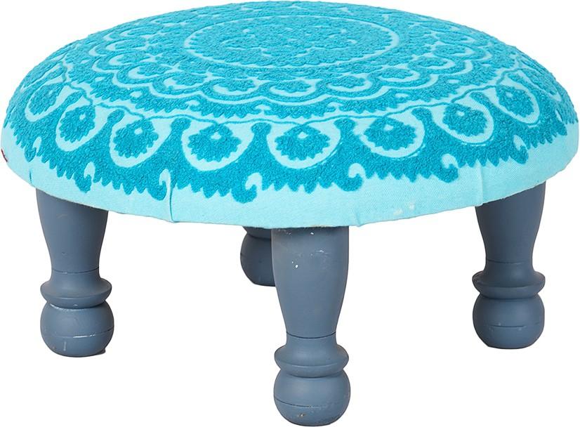 View Wood Dekor Solid Wood Standard Ottoman(Finish Color - Blue, Grey) Furniture (Wood Dekor)