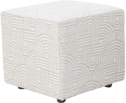 View Furnitech Engineered Wood Standard Ottoman(Finish Color - Light Grey) Furniture (Furnitech)