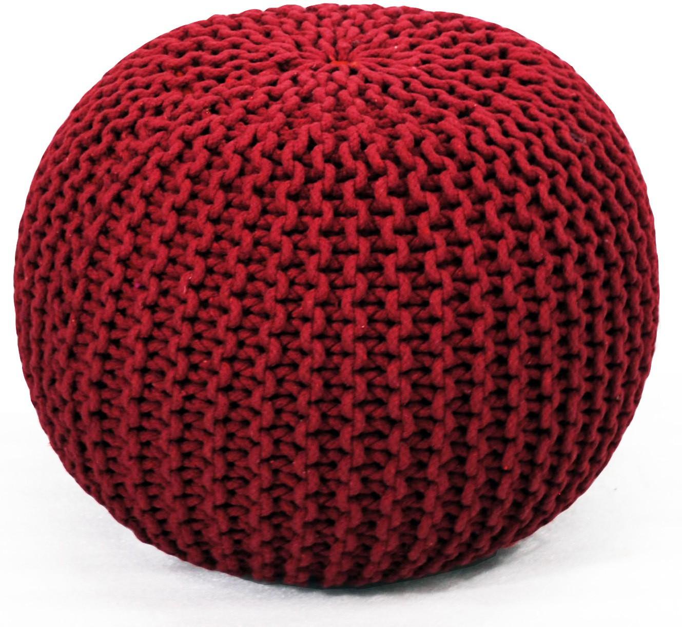 View Coro World Natural Fiber Pouf(Finish Color - Red) Furniture (Coro World)