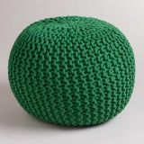 SWHF Fabric Pouf (Finish Color - Green)