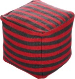 Artasia Fabric Pouf (Finish Color - Red)