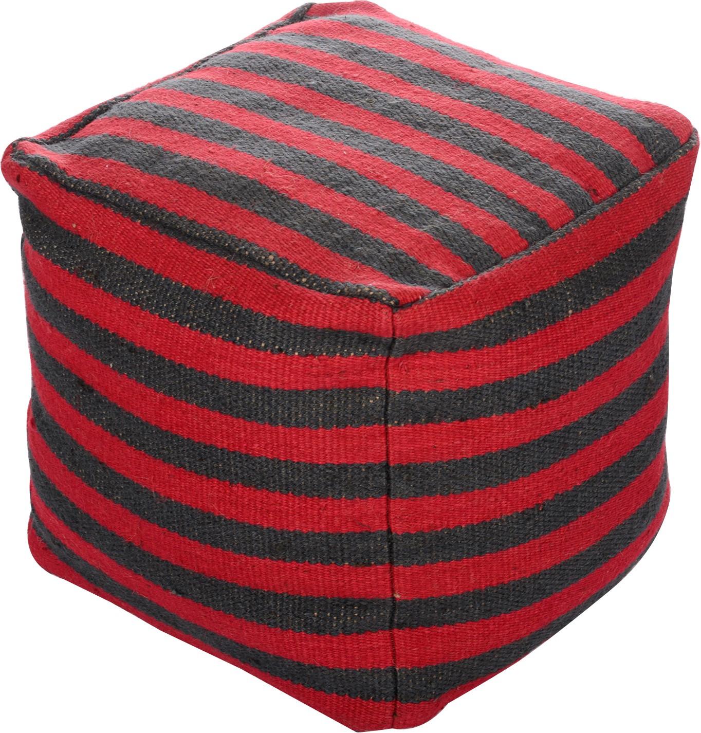 View Artasia Fabric Pouf(Finish Color - Red) Furniture (Artasia)