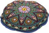 Rajrang Fabric Pouf (Finish Color - Oliv...