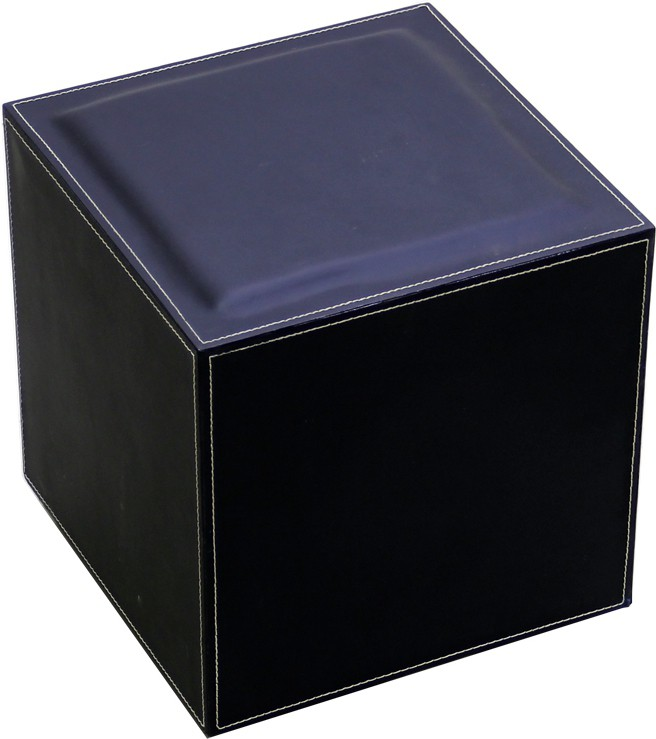 View Index Leatherette Cube Ottoman(Finish Color - Black) Furniture (Index)