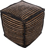 Artasia Fabric Pouf (Finish Color - Natu...