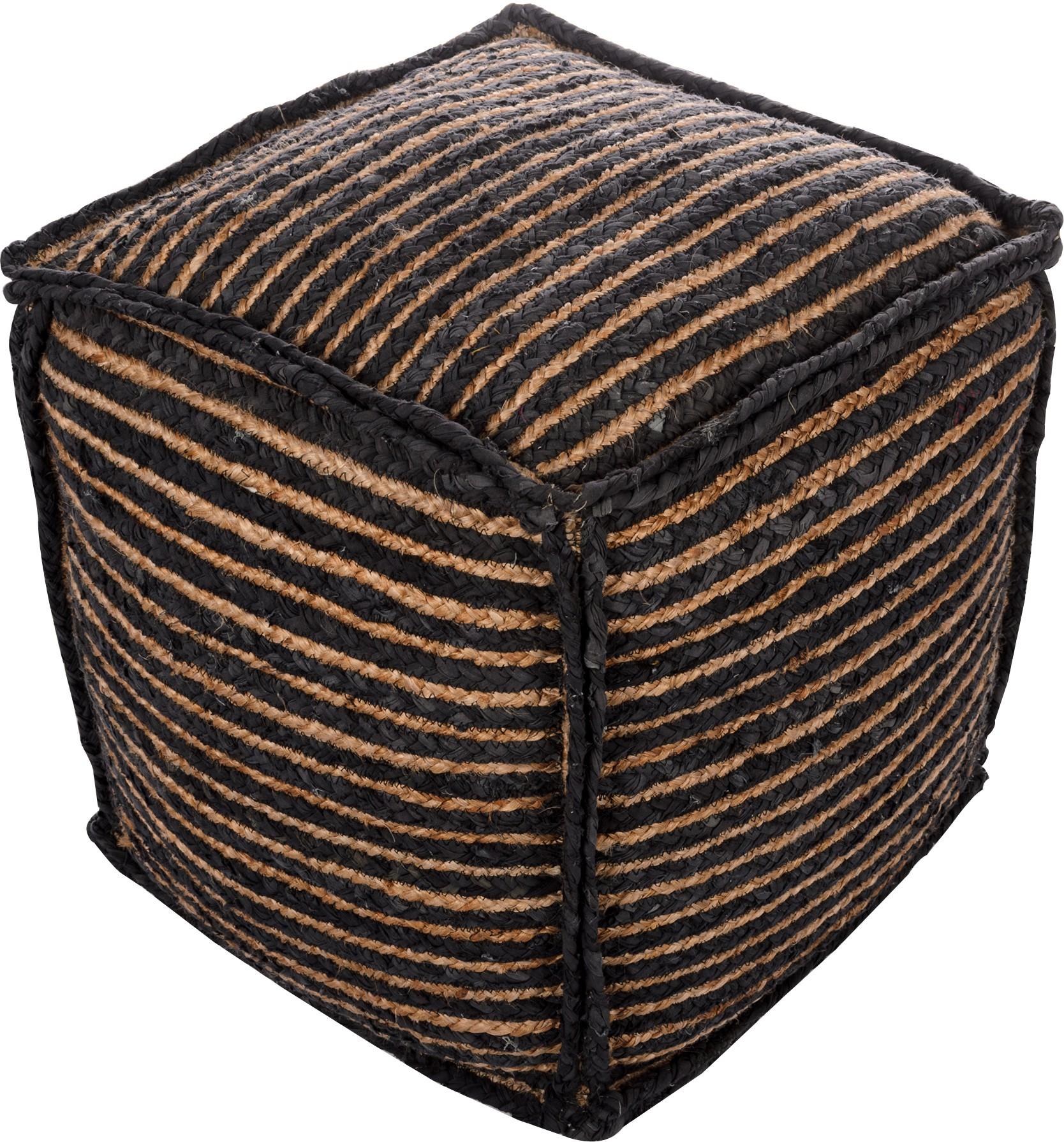 View Artasia Fabric Pouf(Finish Color - Natural) Furniture (Artasia)