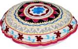 Rajrang Fabric Pouf (Finish Color - Whit...