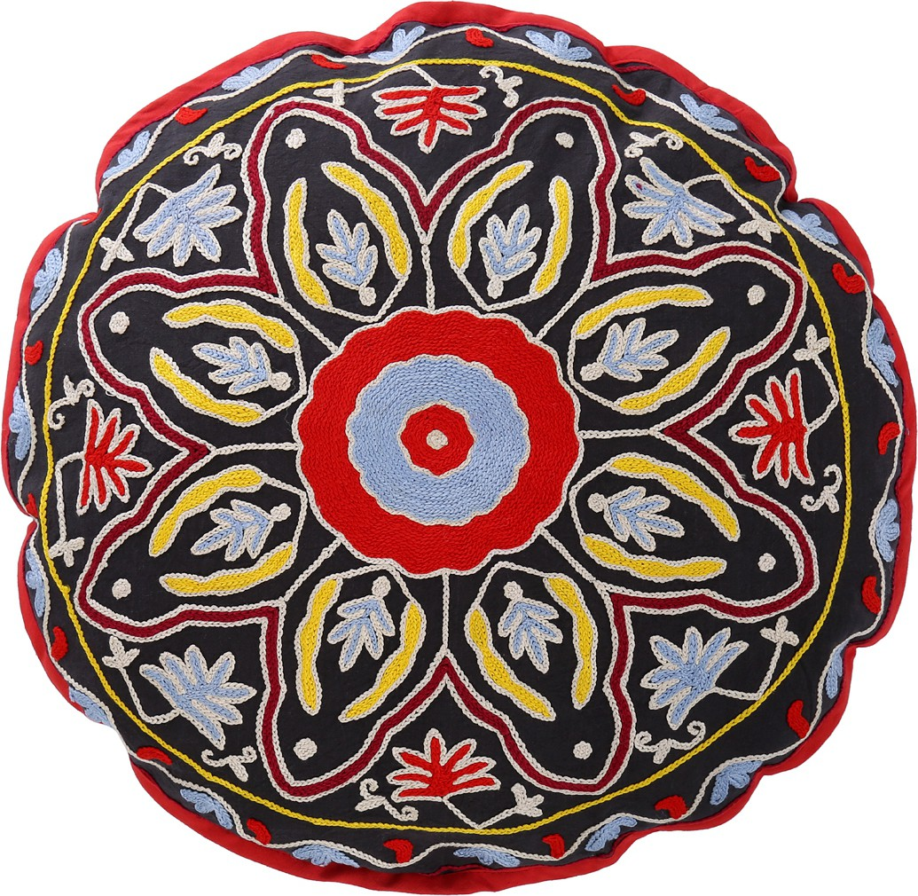 Rajrang Fabric Pouf(Finish Color - Black)   Furniture  (Rajrang)