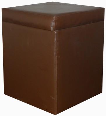 ORKA Leatherette Standard Ottoman(Finish Color - Brown)