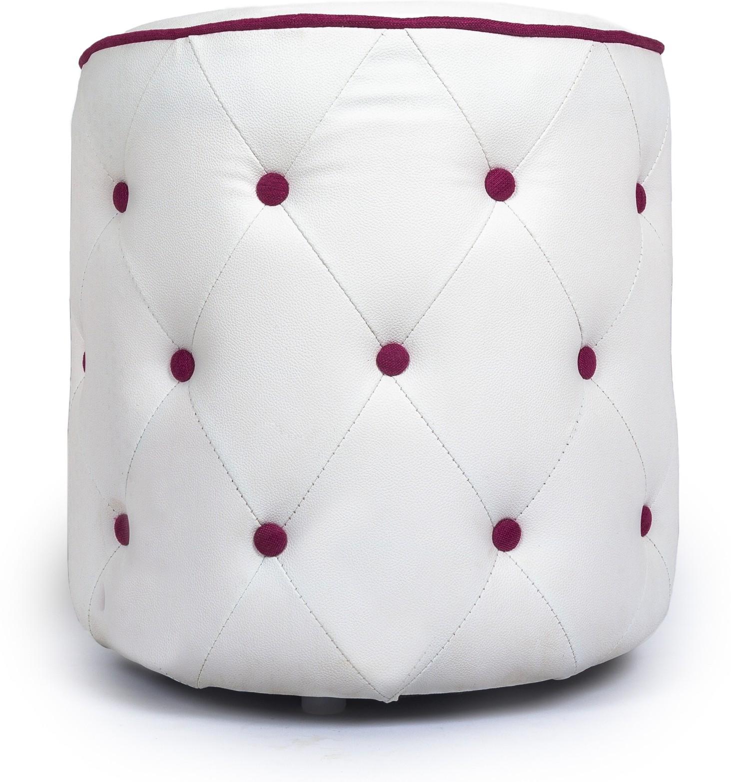 View Aadeshwar Enterprise Foam Pouf(Finish Color - White, Pink) Furniture (Aadeshwar Enterprise)