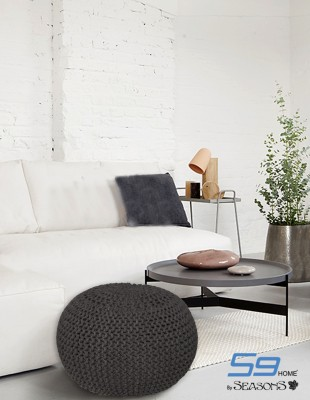 S9home by Seasons Fabric Pouf