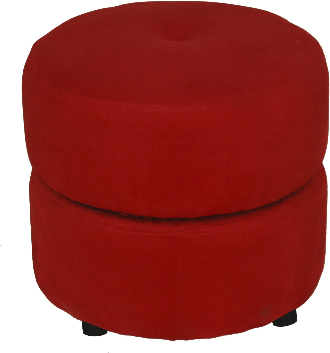 View Furnitech Engineered Wood Standard Ottoman(Finish Color - Red) Furniture (Furnitech)