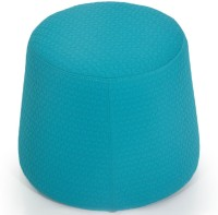 Evok Fabric Standard Ottoman(Finish Color - Blue)