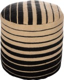 Artasia Fabric Pouf (Finish Color - Ecru...