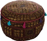 Artasia Fabric Pouf (Finish Color - Brow...