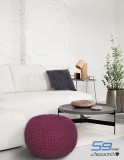 S9home by Seasons Fabric Pouf (Finish Co...