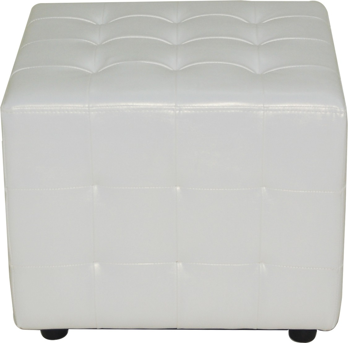 View Furnitech Engineered Wood Standard Ottoman(Finish Color - White) Furniture (Furnitech)