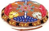Rajrang Fabric Pouf (Finish Color - Brow...