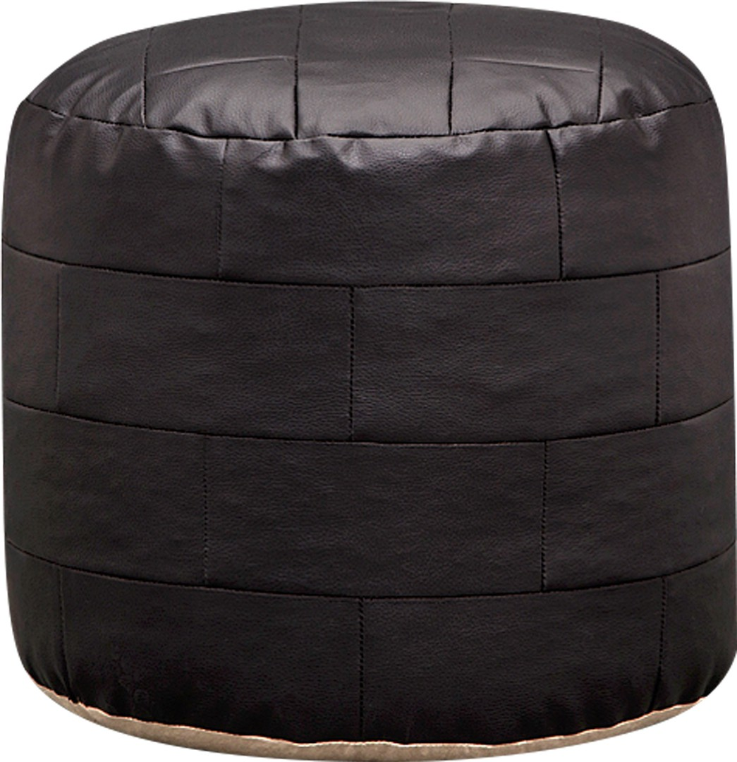 View Purplewood Leatherette Pouf(Finish Color - Black) Furniture (Purplewood)