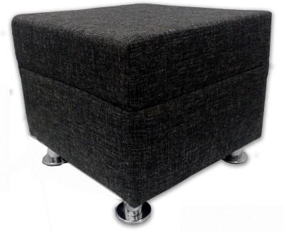 Shakun Solid Wood Standard Ottoman(Finish Color - Jute Black)