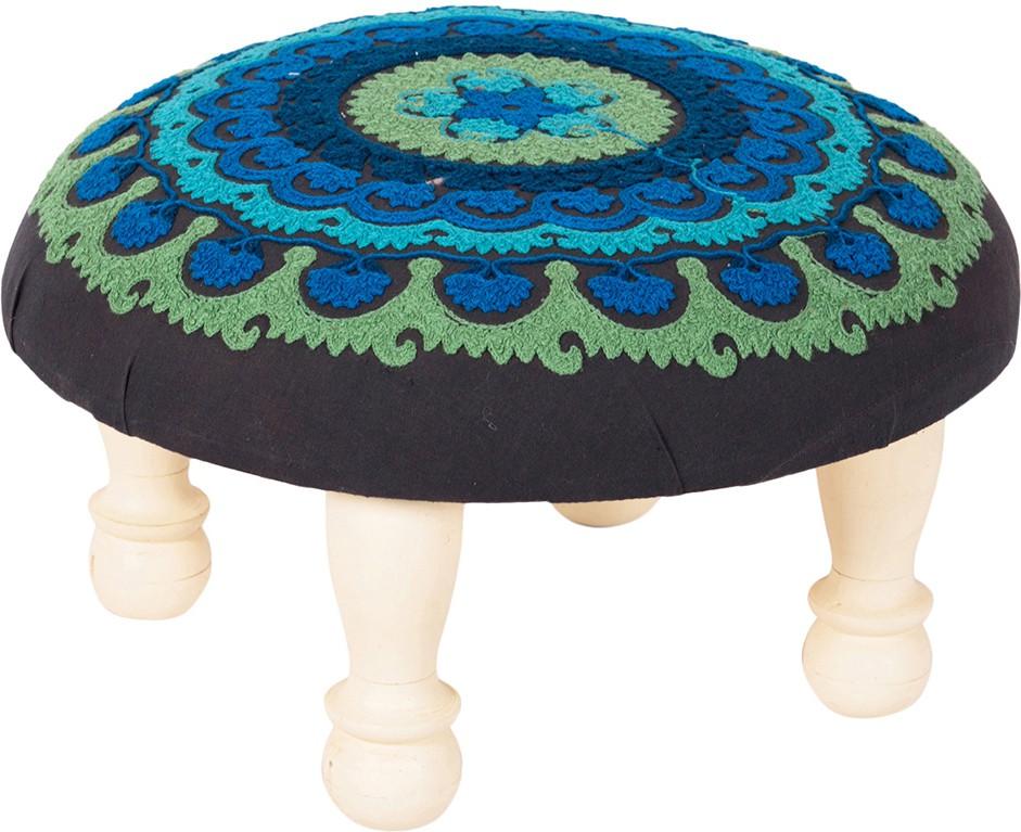 View Wood Dekor Solid Wood Standard Ottoman(Finish Color - White) Furniture (Wood Dekor)
