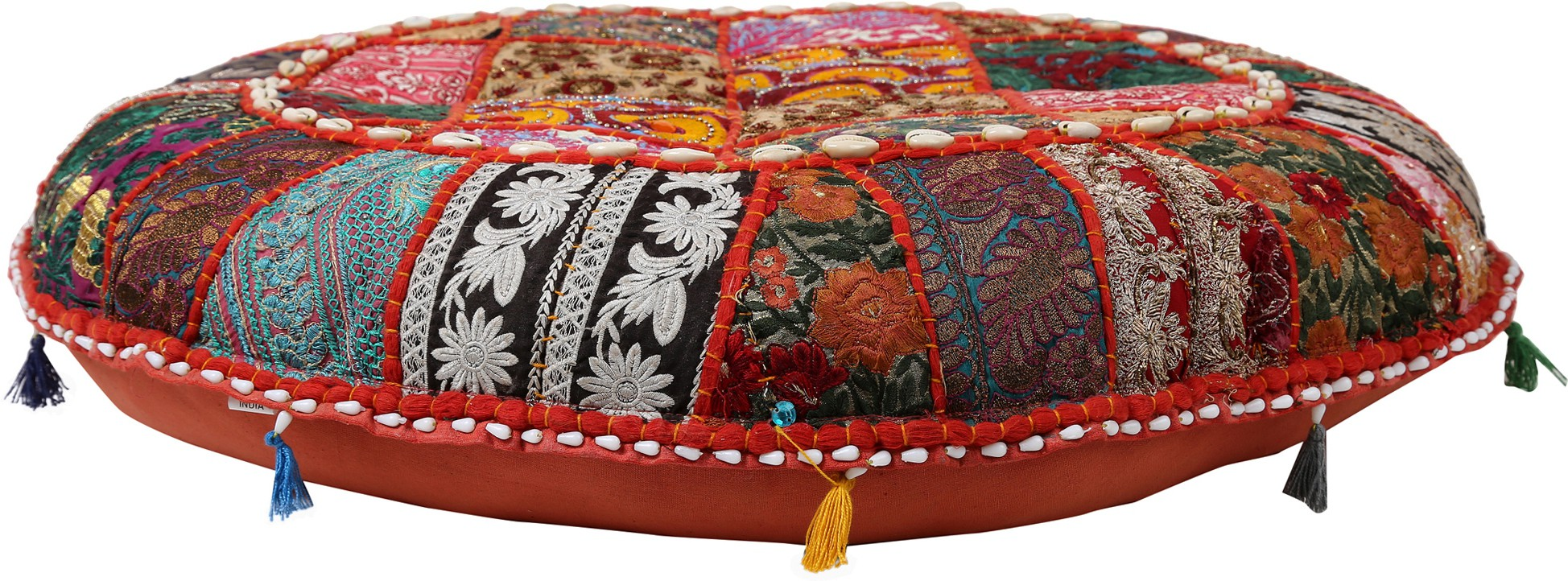 View Indigenous Fabric Pouf(Finish Color - Multicolor) Furniture (Indigenous)