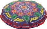 Rajrang Fabric Pouf (Finish Color - Blue...