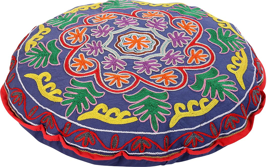 Rajrang Fabric Pouf(Finish Color - Blue)   Furniture  (Rajrang)