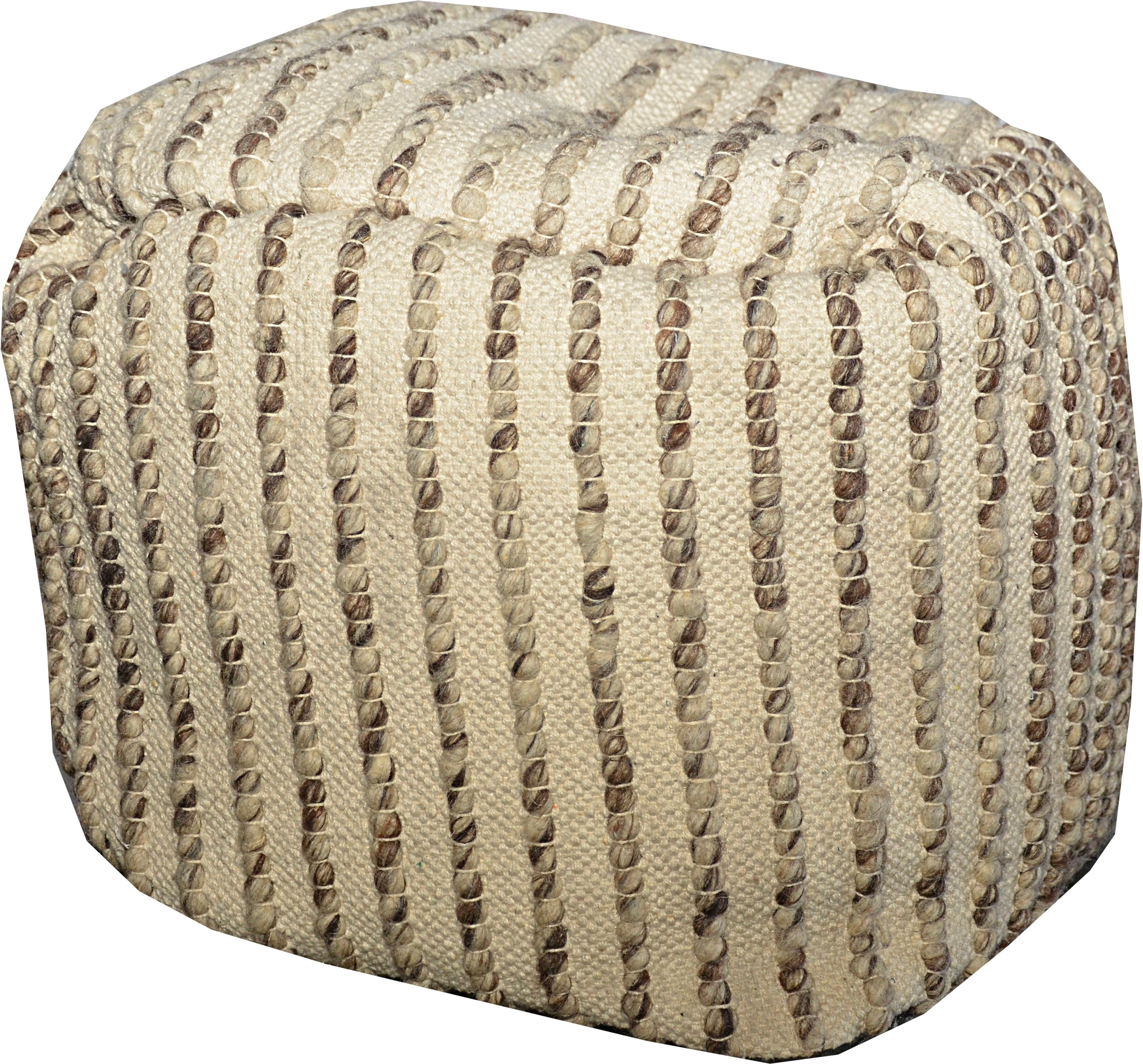 View JJ Craft Natural Fiber Pouf(Finish Color - BEIGE MULTI) Furniture (JJ Craft)