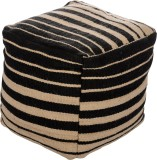 Artasia Fabric Pouf (Finish Color - Acru...