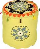 Rajrang Fabric Pouf (Finish Color - Parr...