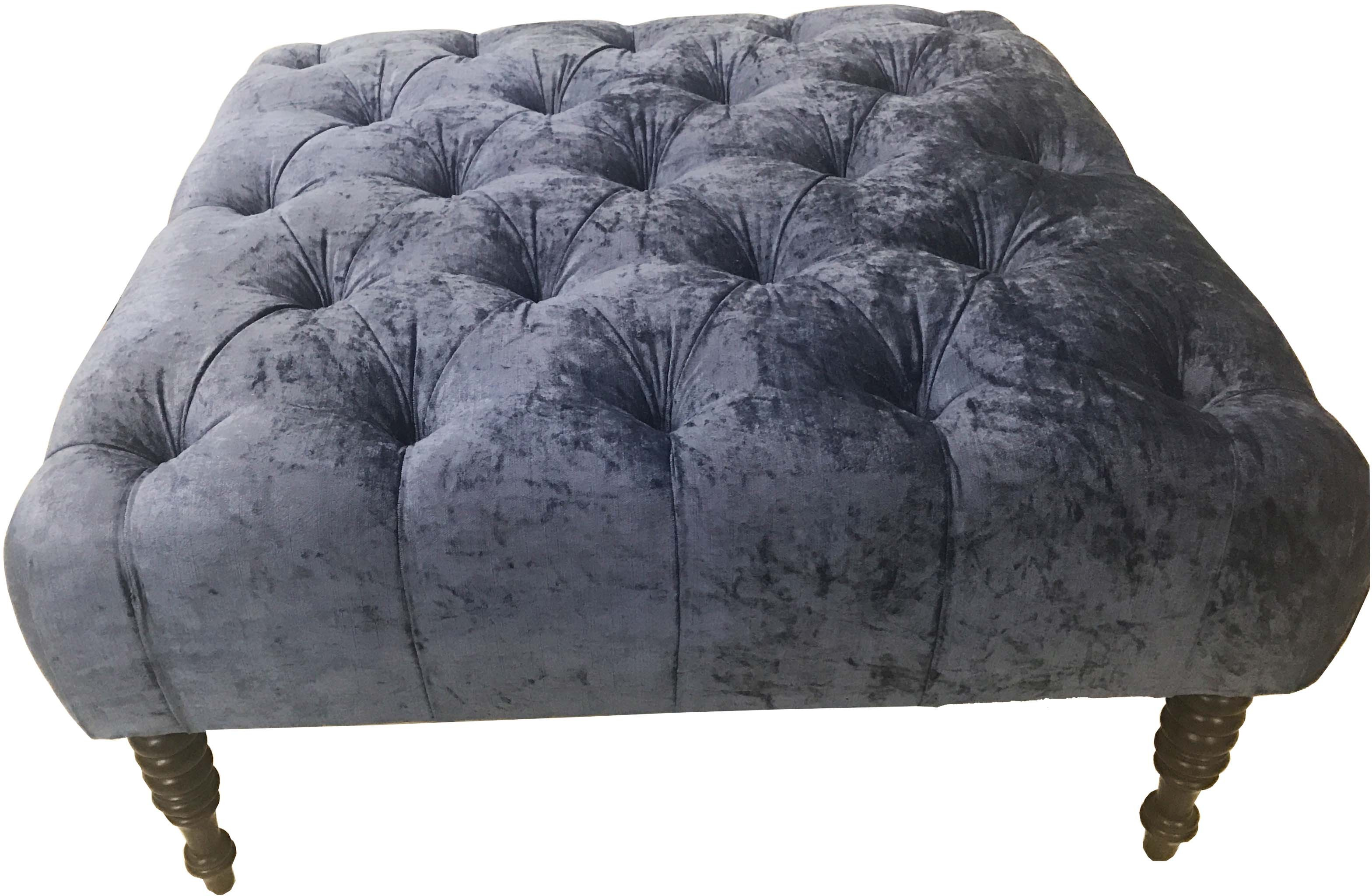 View ArtisTree Fabric Cube Ottoman(Finish Color - blue) Furniture (ArtisTree)