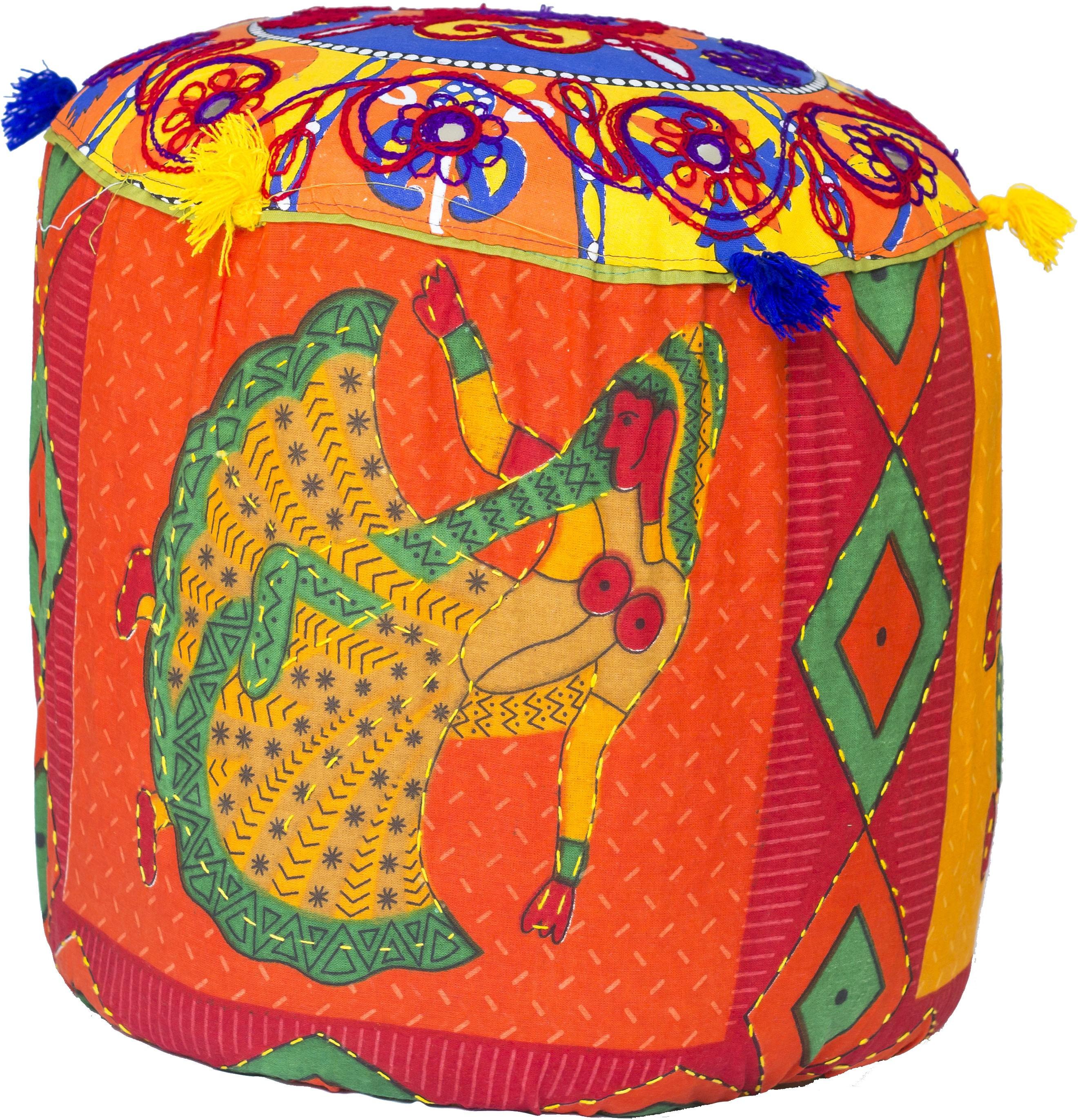 Rangrohi Fabric Standard Ottoman