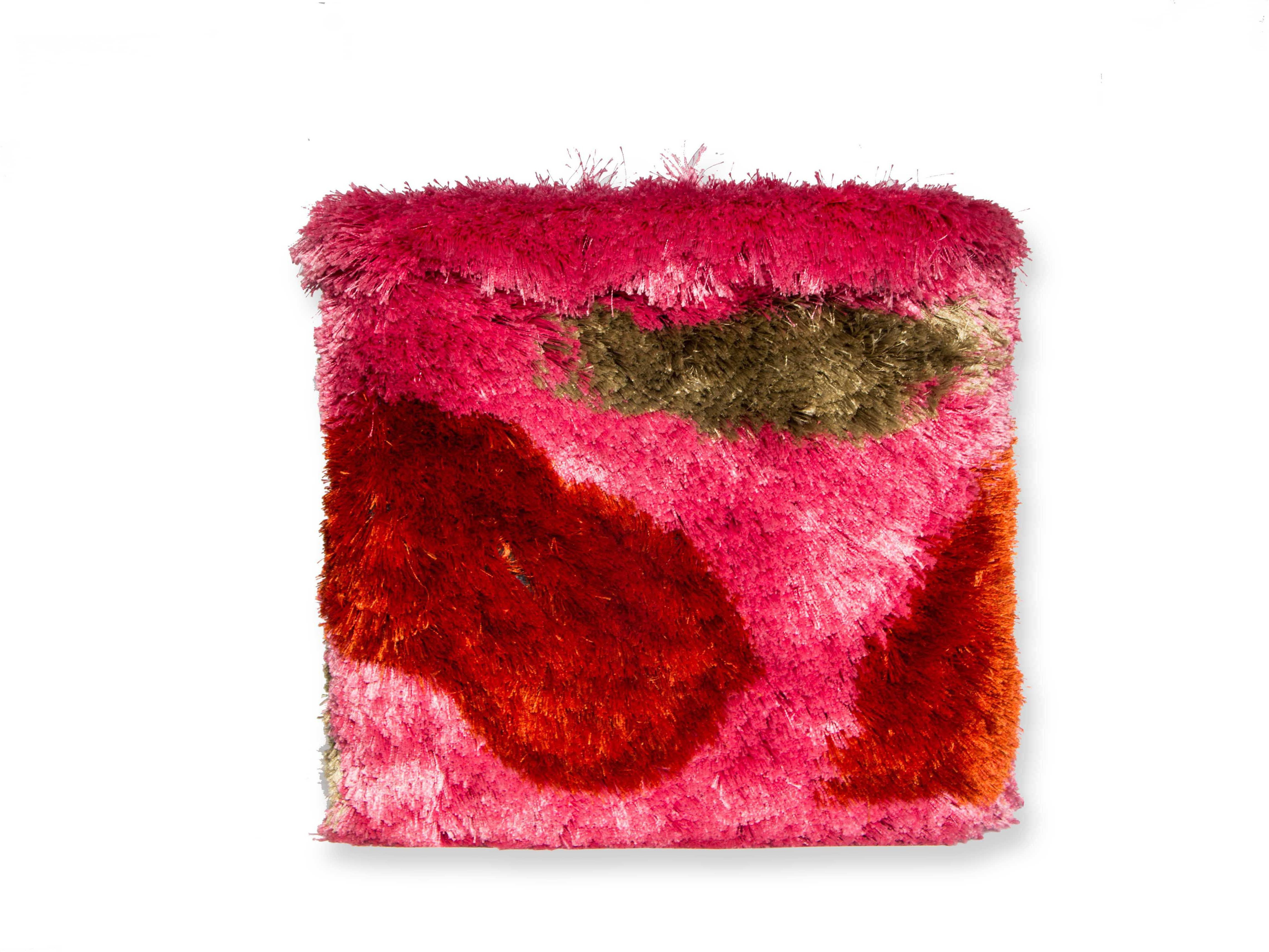 View NewFabricArt Natural Fiber Pouf(Finish Color - Pink) Furniture (New Fabric Art)