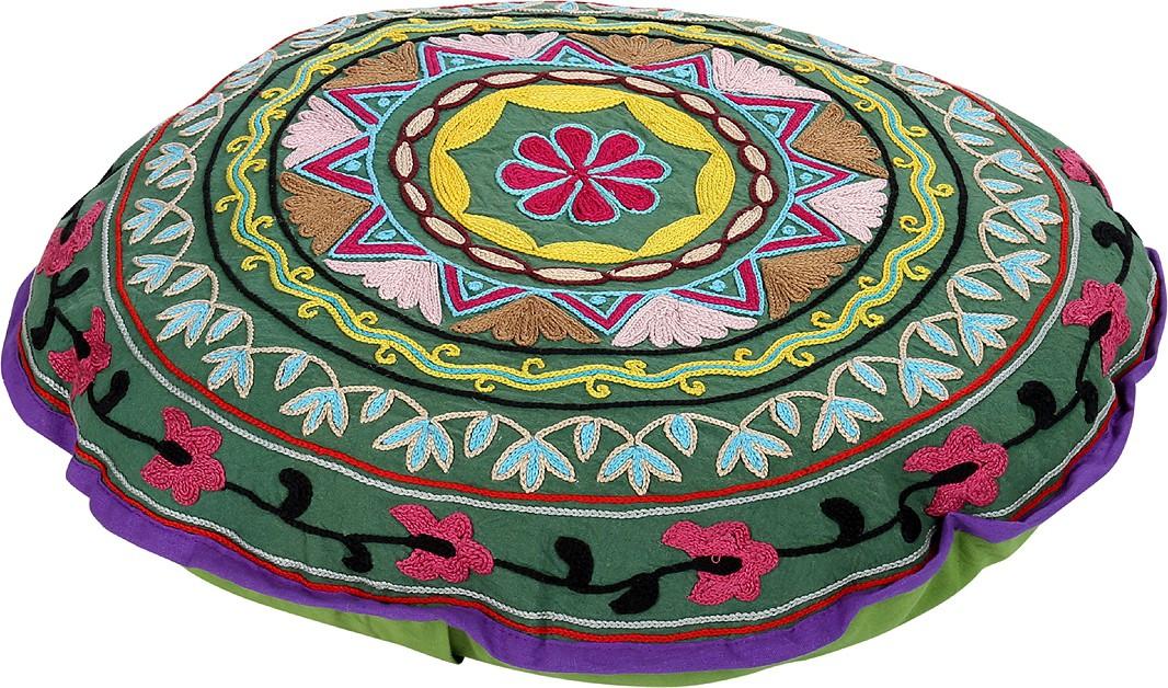 Rajrang Fabric Pouf(Finish Color - Olive Green)   Furniture  (Rajrang)