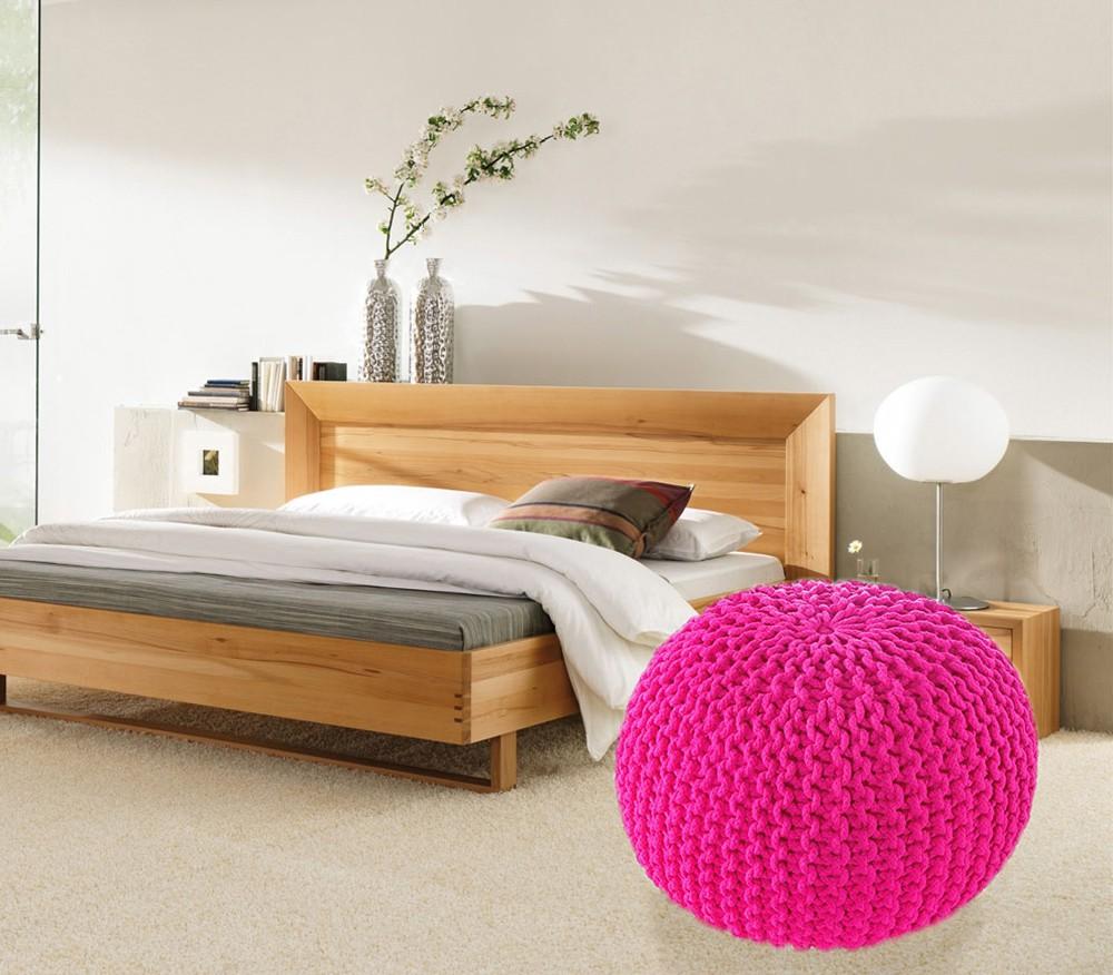 View ACASA Fabric Pouf(Finish Color - HOT PINK) Furniture (ACASA)