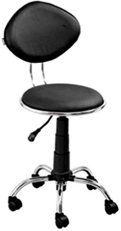 Mavi Leatherette Cafeteria Chair(Finish Color - Black)