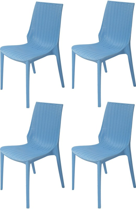 Supreme Lumina Plastic Outdoor Chair(Finish Color - Soft Blue)