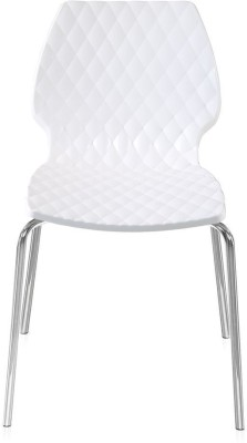 @home by Nilkamal Ferrero Plastic Outdoor Chair(Finish Color - White)