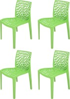 Supreme Web Plastic Outdoor Chair(Finish Color - Parrot Green)