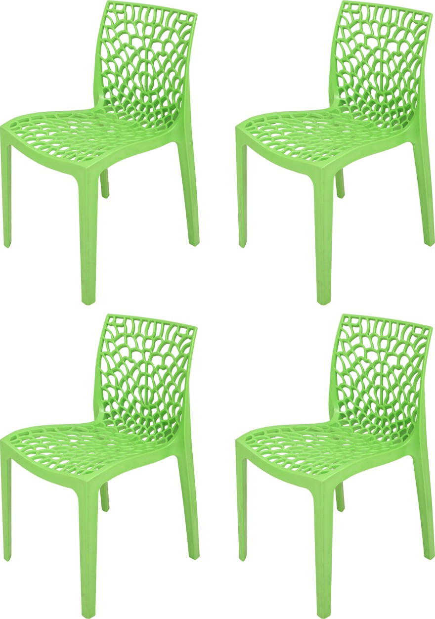 View Supreme Web Plastic Outdoor Chair(Finish Color - Parrot Green) Furniture (Supreme)