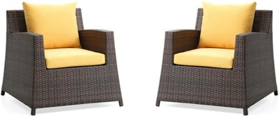 Urban Ladder Samui Patio Synthetic Fiber Outdoor Chair(Finish Color - Brown)