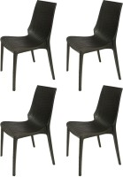 Supreme Lumina Plastic Outdoor Chair(Finish Color - Black)
