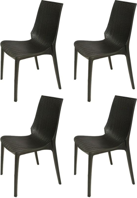 Supreme Lumina Plastic Outdoor Chair(Finish Color - Black)