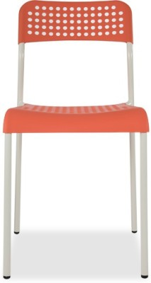 Durian ZEAL-ORANGE Synthetic Fiber Outdoor Chair(Finish Color - Orange)