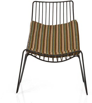 @home by Nilkamal Metal Outdoor Chair(Finish Color - Black)