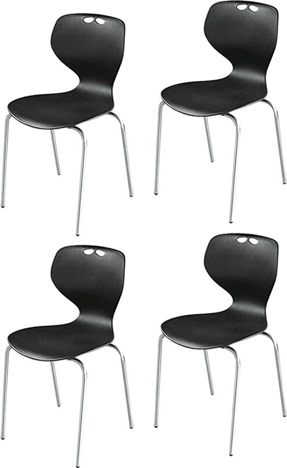 View Mavi Plastic Cafeteria Chair(Finish Color - Black) Price Online(Mavi)